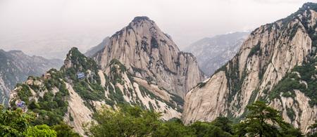 Panorama: Huashan mountain North Peak view - Xian, Shaaxi Province, China