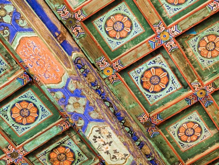 Temple of Heaven roof ornament in detail, Beijing, China, Asia