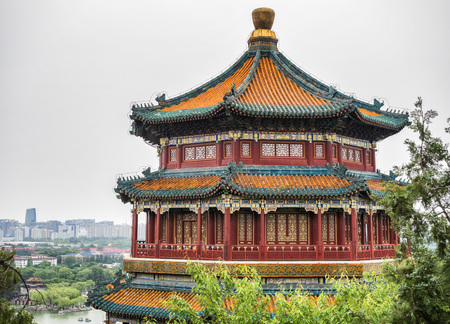 The Tower of the Fragance of the Buddha at the Summer Palace, Beijing, China