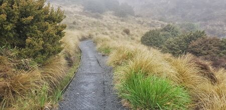 Tongariro Alpine Crossing one-day hike - New Zealand, North Island, NZ 免版税图像