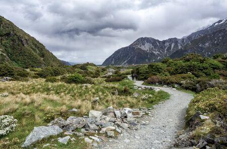 Hooker Valley Track at Mount Cook, Aoraki, New Zealand, NZ