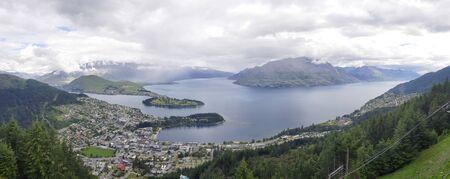 Queenstown Skyline, New Zealand, South Island, NZ Banco de Imagens