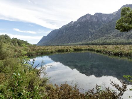 Mirror Lakes, Te Anau Milford Highway, New Zeland, South Island, NZ
