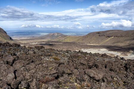 Tongariro Alpine Crossing one-day hike - New Zealand, NZ 免版税图像