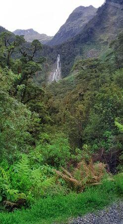 Doubtful Sound Waterfall, New Zealand, South Island, NZ