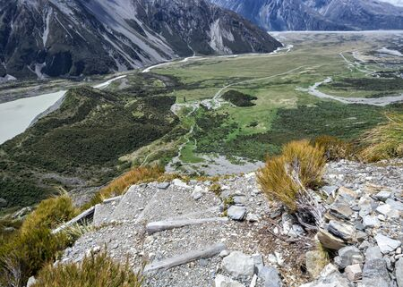 Sealy Tarns Track view, Aoraki, Mount Cook, New Zealand, NZ