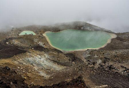 Tongariro Alpine Crossing Emerald Lake - New Zealand, NZ Stockfoto