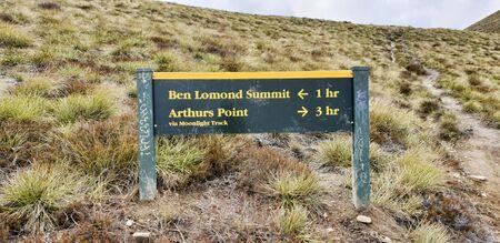December 12th, 2018: Ben Lomond Track Sign, Queenstown, New Zealand, South Island, NZ