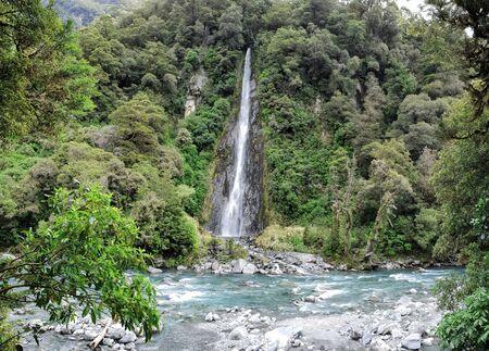 Thunder Creek Falls, New Zealand, South Island, NZ
