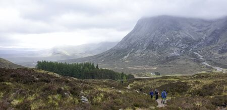 West Hiland Way Track, landscape between Kingshouse and Kinlochleven, long distance hike - Scotland, UK