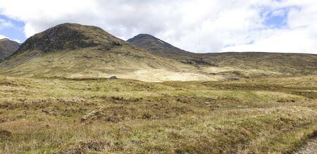 West Hiland Way Track, landscape between Bridge of Orchy and Kingshouse, long distance hike - Scotland, UK