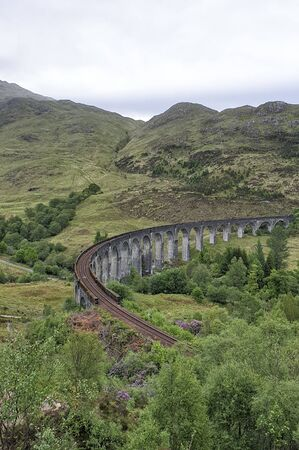 Glenfinnan-Viadukt bei Glenfinnan - Schottland, Großbritannien Standard-Bild