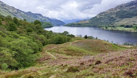 West Hiland Way Track, landscape between Loch Lomond and Bridge of Orchy, long distance hike - Scotland, UK