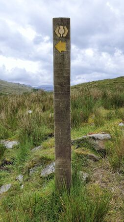 West Hiland Way Track, landscape between Loch Lomond and Bridge of Orchy, long distance hike - Scotland, UK 版權商用圖片 - 132094055
