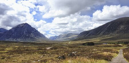 West Hiland Way Track, landscape between Bridge of Orchy and Kingshouse, long distance hike - Scotland, UK