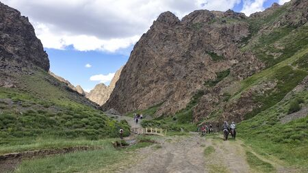 Yol Valley at the Gobi Desert, Mongolia 版權商用圖片