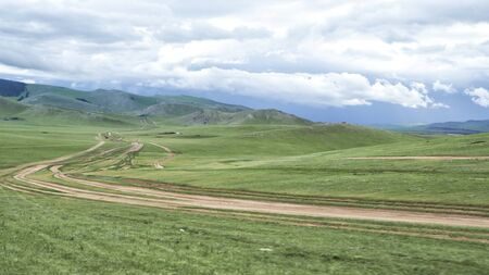 Orkhon Valley at the Central Mongolia