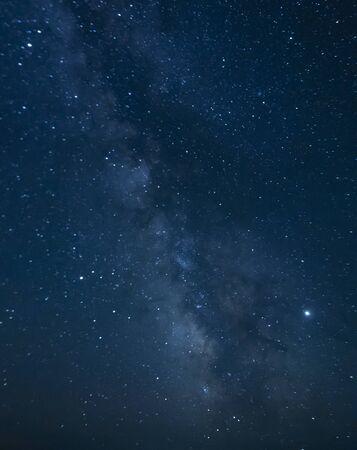Die Milchstraße in der Wüste Gobi, Mongolei Standard-Bild