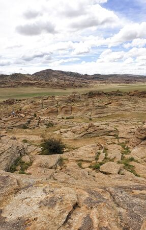 Baga Gazariin Chuluu, rock formations at the Gobi Desert, Mongolia