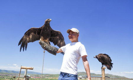 9th July, 2019: Mongolian Eagle Portrait at Mongolia