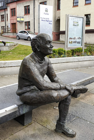 May 23rd, 2019: Statue at The Enf of the West Highland Way Track at Fort William - Scotland, UK