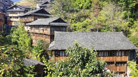 Piangan Village at the Longshen Rice Terraces, Guangxi, China