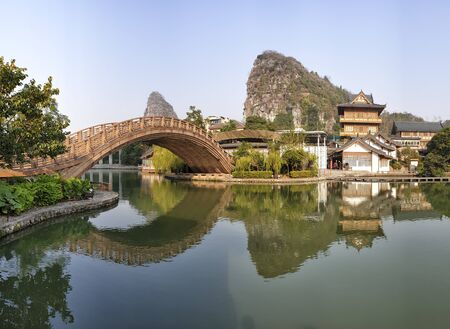Mulongta Shrine at Guilin, Guangxi Province, China 免版税图像