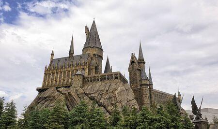 Osaka, Japan - November 18th, 2019: Universal Studios Theme Park: The wizarding world of Harry Potter