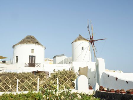 Windmills at Oia, Santorini, Greece