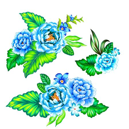 vibrance: blue roses, latin flowers. a collection of floral arrangments in ethnic mexican style with strong colors and very beautiful detailed vintage roses.
