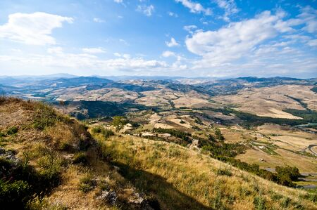 view from Sicily Enna Agira northward_1