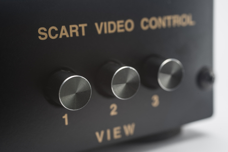 electronic scart switch Stock Photo