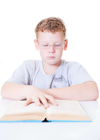 child reads a book Stock Photo