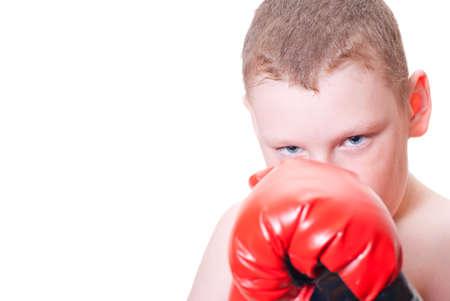 Boy boxer on a white background Stock Photo - 13007025
