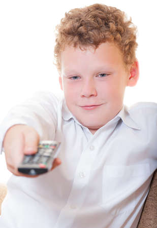 A teenager with a remote control Stock Photo - 14188752