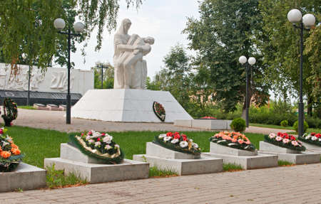 Memorial eternal glory in Kozelsk Stock Photo - 14668187