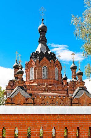 Kazan Amvrosievskaya stauropegic female hermitage. The village Shamordino kozelsky district, Kaluga region Stock Photo