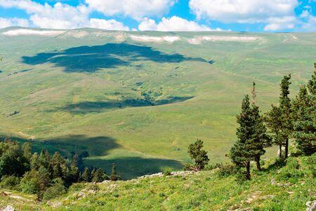 beautiful mountain landscape against the blue sky Stock Photo