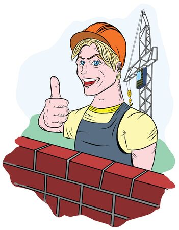 A smiling builder reveals that all is good