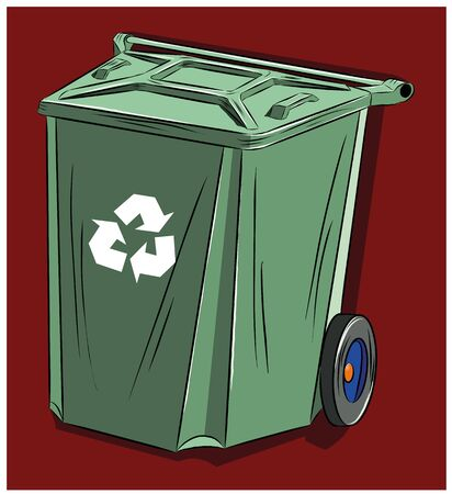 Trash can designed for household waste, Vector