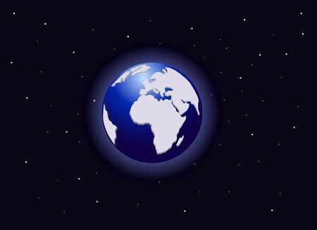 Uitzicht op de planeet aarde