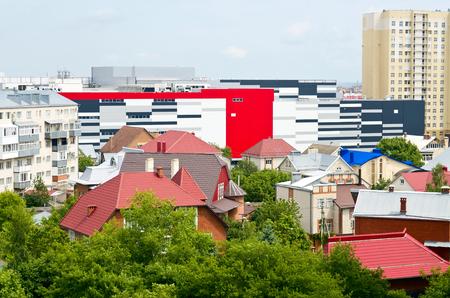 Verschillende soorten gebouwen op één plek
