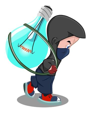 The concept of the intellectual property of theft, vector illustration