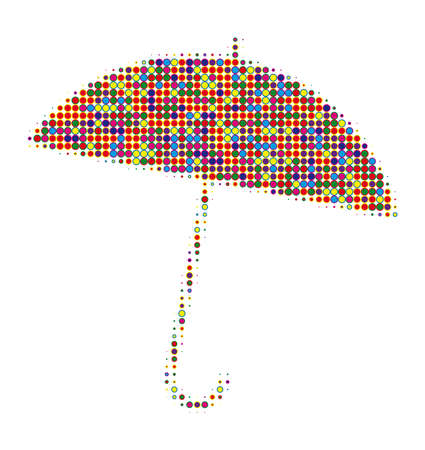 umbrella made of several points like candy photo
