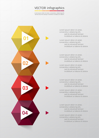 numbers abstract: Abstract infographic template with four steps for success. Business timeline template with 4 options for brochure, diagram, workflow, presentation, web design, training. Vector EPS 10 Illustration