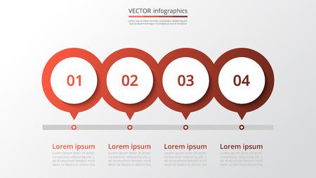 résumé infographie étapes modèle avec 4 étapes pour le succès