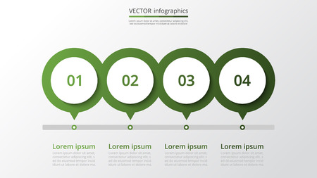 Abstract infographic milestones template with 4 steps for success. Business slide with four options for brochure, diagram, workflow, timeline, web design. Illustration