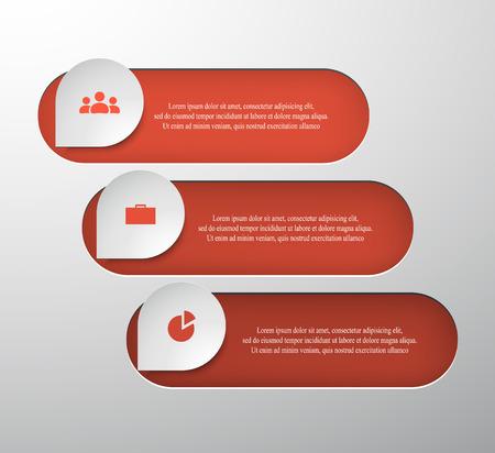 Infografía paso a paso. Elemento abstracto universal de tabla, gráfico, diagrama con 3 pasos, opciones, partes, procesos. Plantilla de negocio de vector verde para presentación y formación.
