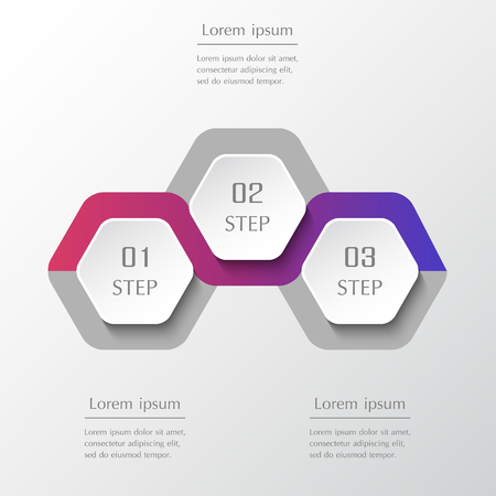 Infographic design elements for your business data with 3 options, parts, steps or processes. Vector timeline illustration.