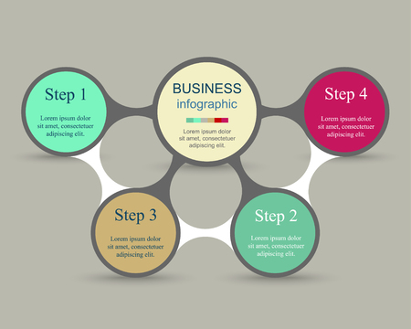 Metaball for diagram, graph, presentation and chart. Business concept with 4 options, parts, steps or processes